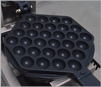 Stainless Steel 220V Electric Bubble Waffle Iron Eggettes QQ Waffle Maker