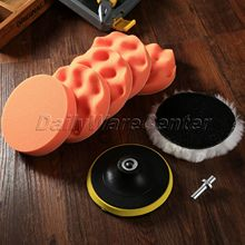 8Pcs 5inch Buffing Pad Auto Car Polishing Sponge Wheel Kit +M10 Drill Adapter High Gorss Car Wash Cleaning Buffer Detailing Tool