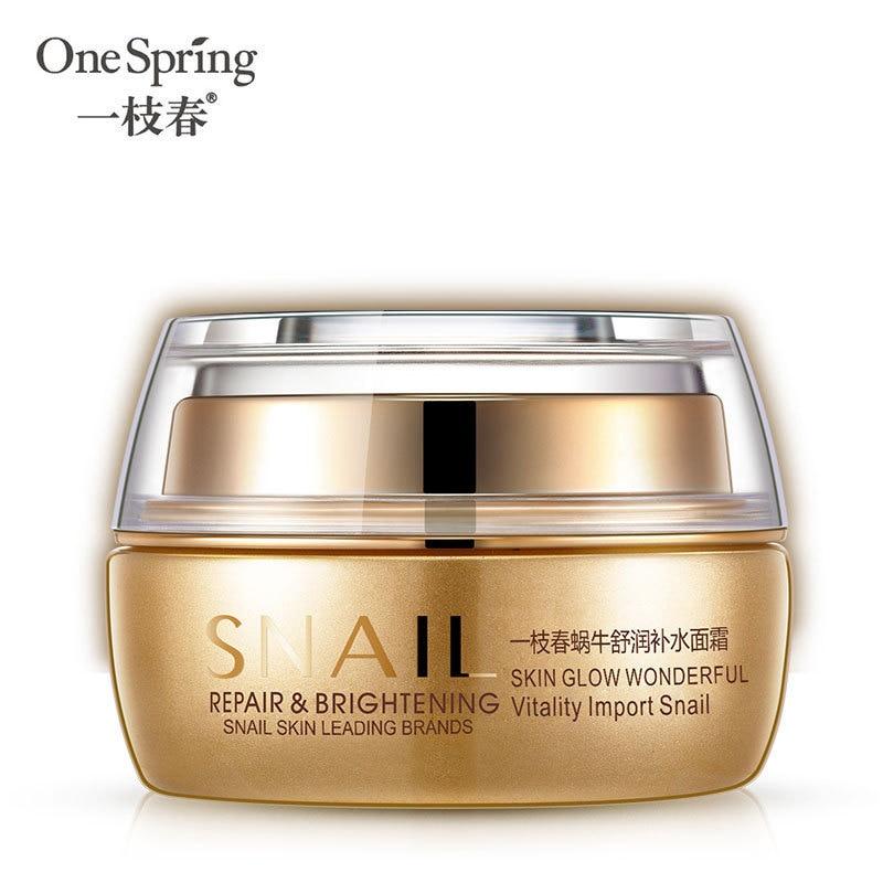 50 ml OneSpring Schnecke Tag Creme Gesicht Pflege Feuchtigkeits Anti Aging-Bleaching Gesichts Haut Ageless Anti Falten Hebe Hautpflege