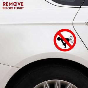 Image 2 - سيارة ملصقات سيارة التصميم لا يضرطن سيارة ملصقا مضحك الحمار PVC صائق الوقود غيج فارغة ملصقات الفينيل 12 سنتيمتر * 12 سنتيمتر