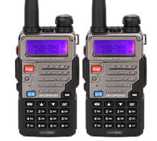 Baofeng uv-5r plus handliche talkie walki UV5RE Sprech für ssb HF Transceiver Dual Band Display ppt hörer Zwei-wege-radio 2 stücke(China)