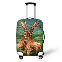 Zoo giraffe prints travel luggage suitcase cover storage bag case cover thick protective 18-30 inch Travel Accessories