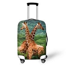 Zoologijos sodas žirafa spausdina kelionės bagažo lagamino dangtelis sandėliavimo maišelis dėžutėje dengtas storas apsauginis 18-30 colių kelionės reikmenys