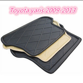 Trunk Tray Liner Cargo Mat Floor Protector foot pad mats For Toyota yaris 2009-2013 (2colors)
