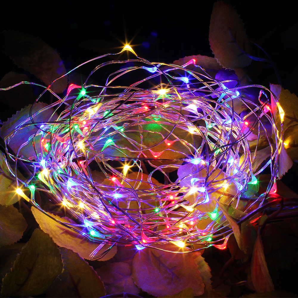 2M 5M 10M Copper Wire Fairy Lights USB Garland Battery Powered Christmas Wedding Party Decoration LED String Light