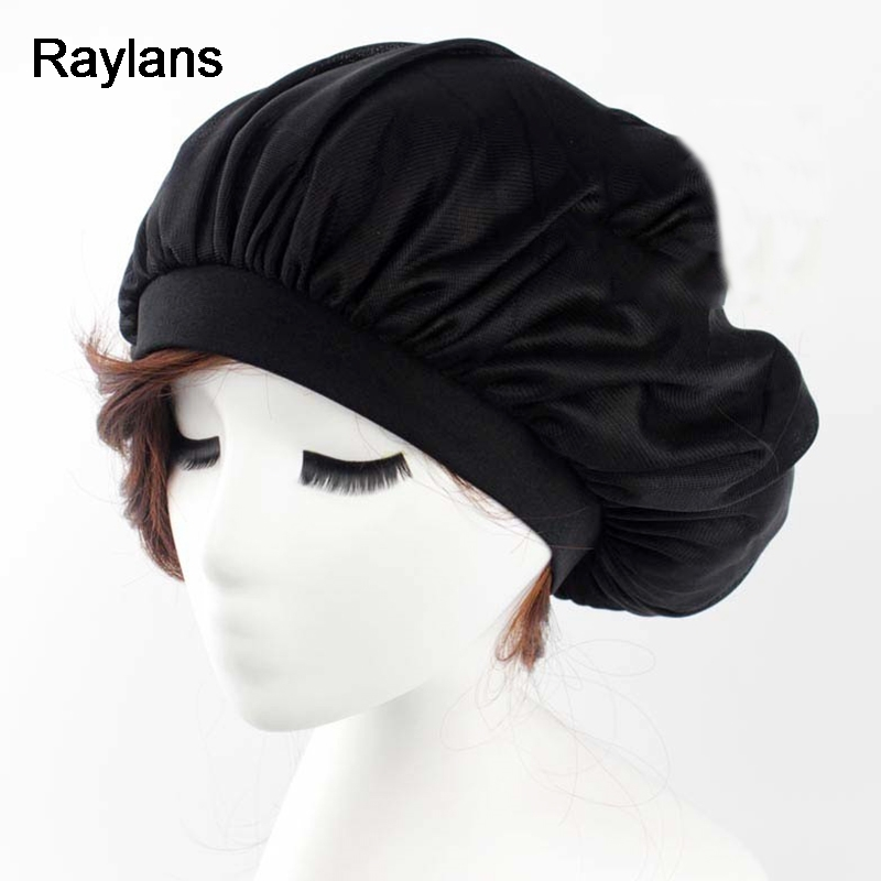 Raylans Night Sleep Hat Long Hair Care Chemo Cap Satin Bonnet Cap Head Wrap Cover