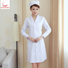 Nurses wear long-sleeved womens winter white coats doctors short-sleeved summer cosmetologist work clothes set
