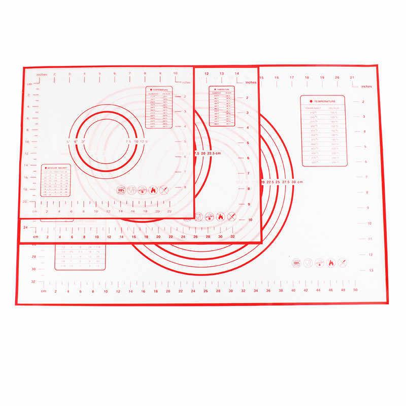 スマートシリコーンベーキングマット測定ピザ生地ノンスティックホルダー菓子台所用品調理ツール耐熱皿