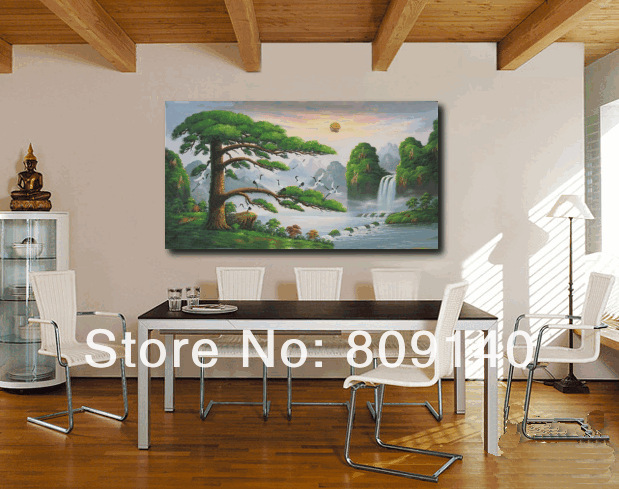 feng shui paintings for office. Feng Shui Painting Chinese Landscape Oil High Quality Handmade Home Office Hotel Decoration Wall Art Paintings For H