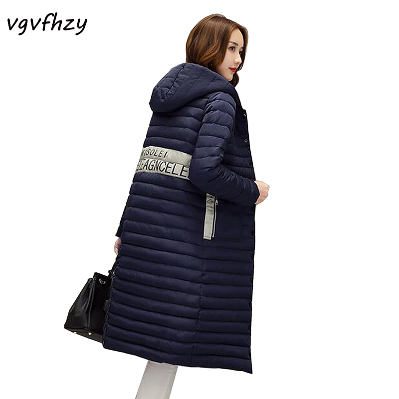 Winter Jacket Women 2017 New Hooded Coat Fashion Overcoat Parka Thickened Cotton-Padded Warm long Coats Women Winter Outwear LU 2017 new fashion winter jacket men long thick warm cotton padded jackets coat parka overcoat casual outwear jacket plus size 6xl