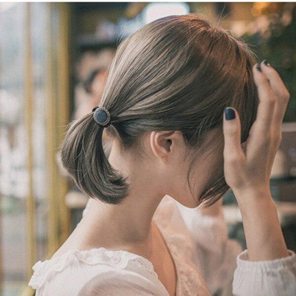 Цинковый сплав Мода Упругие волосы Галстуки новый раунд Пномпень Темно-синие волос Веревка Hairband Интимные аксессуары 16.5 см (6 4/8 ) длинные, 1 п...