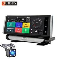 QUIDUX 4 г ADAS 1080 P Видеорегистраторы для автомобилей Камера gps навигации 8,0 ips регистраторы Android 5,1 регистратор Full HD видео Регистраторы Двойной об