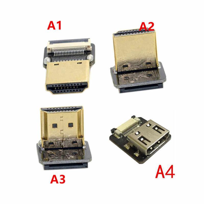 FPV Micro HDMI Mini HDMI 90 bằng Adapter 5 cm-100 cm FPC Ribbon Flat HDMI Cable Sân 20pin cho Multicopter Aerial Photography