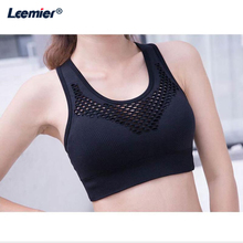 Women Sports Bra  Full Cup Seamless Gym For Fitness Ladies Padded Push up Yoga wear yoga Top Wire Free