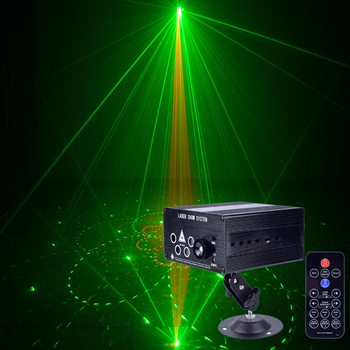2018 New arrive 5 holes 120 pattern RG laser light dj laser projector disco stage effect lighting for home party entertainment