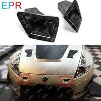 For Nissan 370Z Z34 FRP Glass Fiber Front Bumper Duct Set Body Kit Auto Tuning Part For 370Z Z34 Fiberglass Air Intake(09onwards