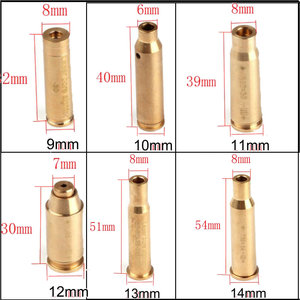 ohhunt CAL .9mm .45 .30 .222REM .223REM 7.62X39 30-30WIN 7X57R .308 7.62X54 .38 Cartridge Red Laser Bore Sighter Boresighter(China)