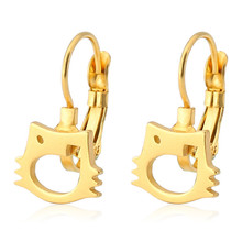 Punk Gold Silver Color Cute Animal Fish Top Quality Ear Clip For Women Men Stainless Steel Stud Earrings Fashion Jewelry цена