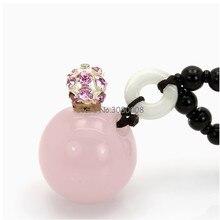 Высокие Модные розовый агат нефрит масло бутылки ожерелье 1 мл в китайском национальном стиле