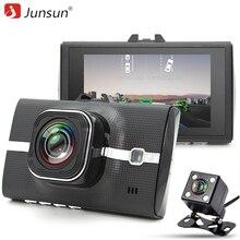 Junsun Автомобильный видеорегистратор Камера LDWS ADAS регистратор с двумя объективами Поддержка ночного видения Видео Запись Full HD 1080 P Автомобильные видеорегистраторы dashcam