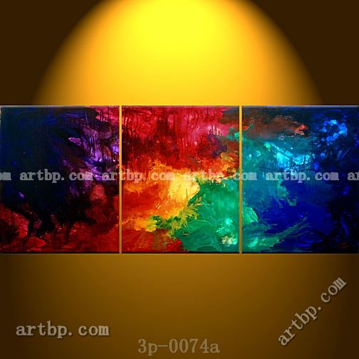 Hand Painted Oil A New Beginning Abstract Painting Canvas Wall Decor Stores 3 Panel