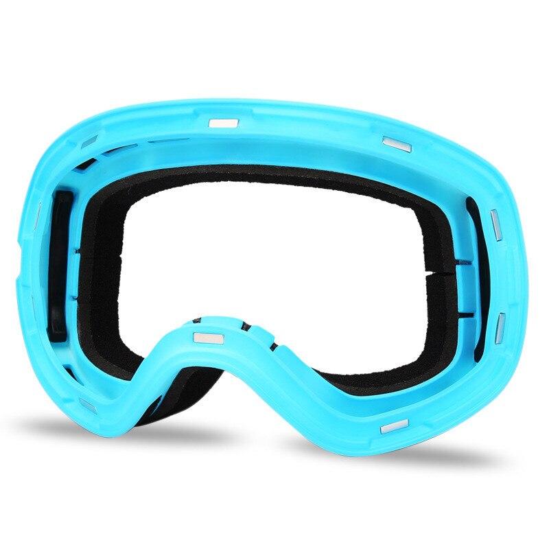 Lunettes de Ski Double lentille UV400 Anti-buée Ski neige Snowboard Motocross lunettes masques de Ski lunettes - 4