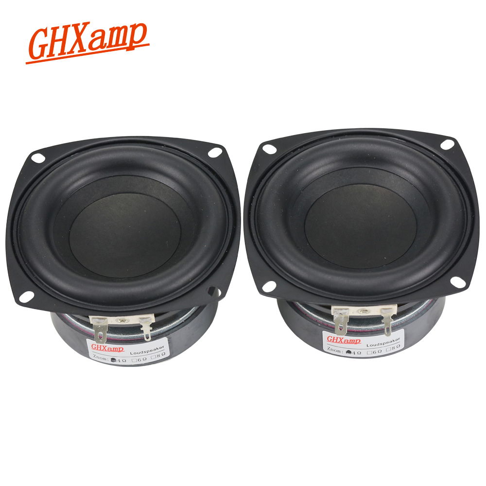 4 inch 105MM Speaker Subwoofer Speaker Bass High Power Long Stroke Computer Car Home Theater Loudspeaker 2PCS pa 3t professional stage high bass three divider electronic protection high power 15 18 inch loudspeaker box
