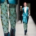 Impressão do vintage da moda personalidade qualidade meia-calça meias femininas das mulheres da menina collants
