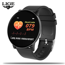 LIGE Smart Bracelet Men Sport Smart Watch IP67 Waterproof Fitness Tracker Heart rate Monitor Pedometer Wristband For Android ios q8 fitness tracker women smart watch men smartwatch ip67 waterproof bracelet heart rate monitor sport wristband for android ios