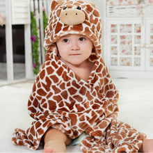 Flannels Designs Hooded Animal modeling Baby Bathrobe/Cartoon Baby Towel/ Kids bath robe/infant beach towels/neonatal hold to be