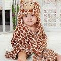 Franelas diseños capucha Animal modelado bebé albornoz / bebé de la historieta Kids bath robe / infant toallas de playa / espera neonatal a-ser