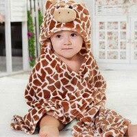 Franelas diseños con capucha animal modelado bebé Bañeras robe/historieta de la toalla/niños Bañeras robe/infantil Toallas de playa /neonatal para ser
