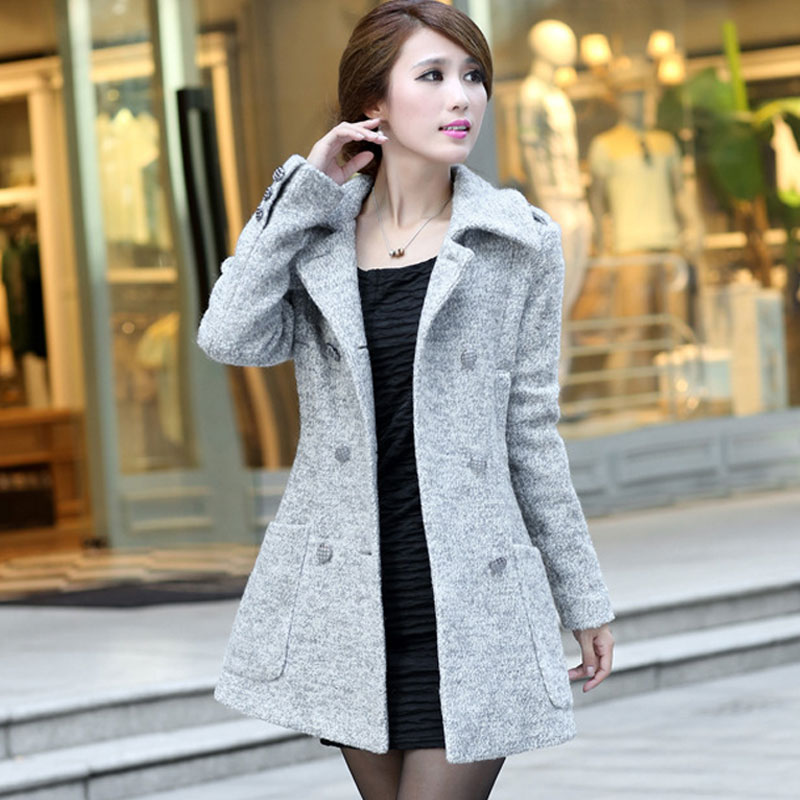 Aliexpress.com : Buy New 2015 winter wool coat women double ...