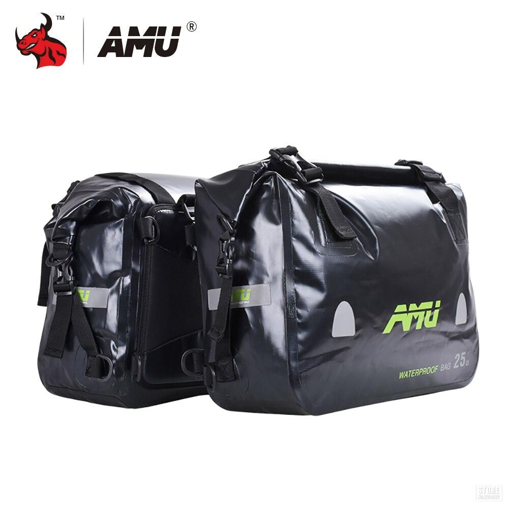 AMU Moto Sac Réservoir Sacs Étanche Moto Selle Sacs Selle Longue-distance Moto Voyage Sac