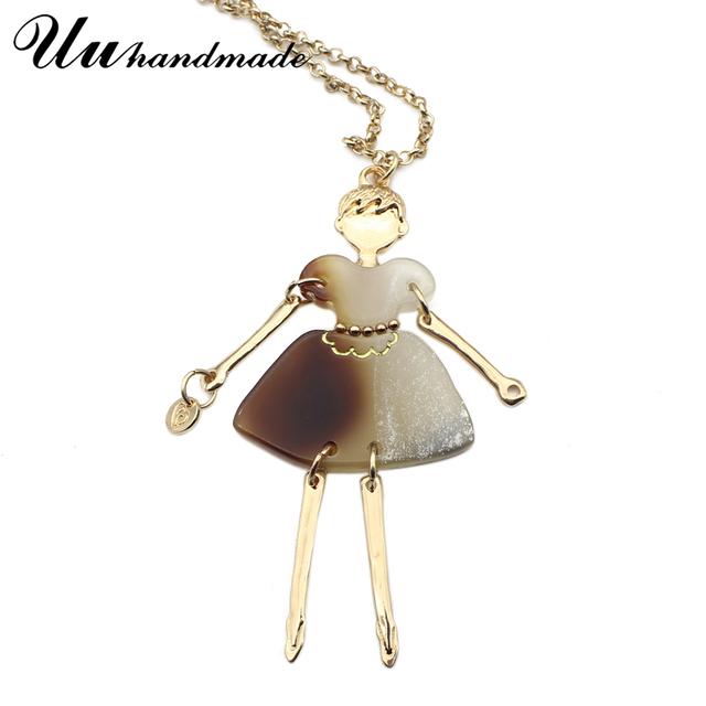 Zinc Alloy Cartoon Girl Pendants Necklace