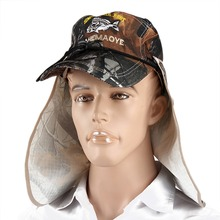 New Style New Brand Unisex Bucket Hat Fishing Boating Hiking Boonie Hat Outdoor Sun Cap+Face Shield