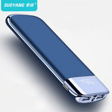 Untuk Xiaomi Samsung Iphone XS 30000 MAh Power Bank External Battery Poverbank 2 USB LED Powerbank Portable Mobile Phone Charger(China)