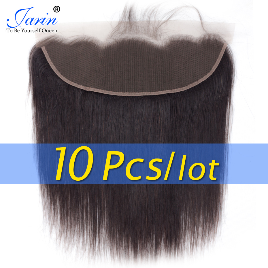 10 Pieces lot Brazilian Lace Frontal Closure Straight Hair 13x4 Free Part Ear To Ear 130