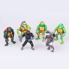 Cartoon Toys 6pcs/set Lovely Mini Turtles Actions Figure For Children Anime Figure Doll Birthday Gifts new turtles armor toy weapons turtles shell children birthday gifts lovely party masks cosplay mask gifts for children
