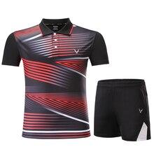 Новая Спортивная одежда для бадминтона для женщин/мужчин, Теннисный костюм, одежда для настольного тенниса, Теннисный набор, Qucik сухие комплекты одежды для бадминтона 3863