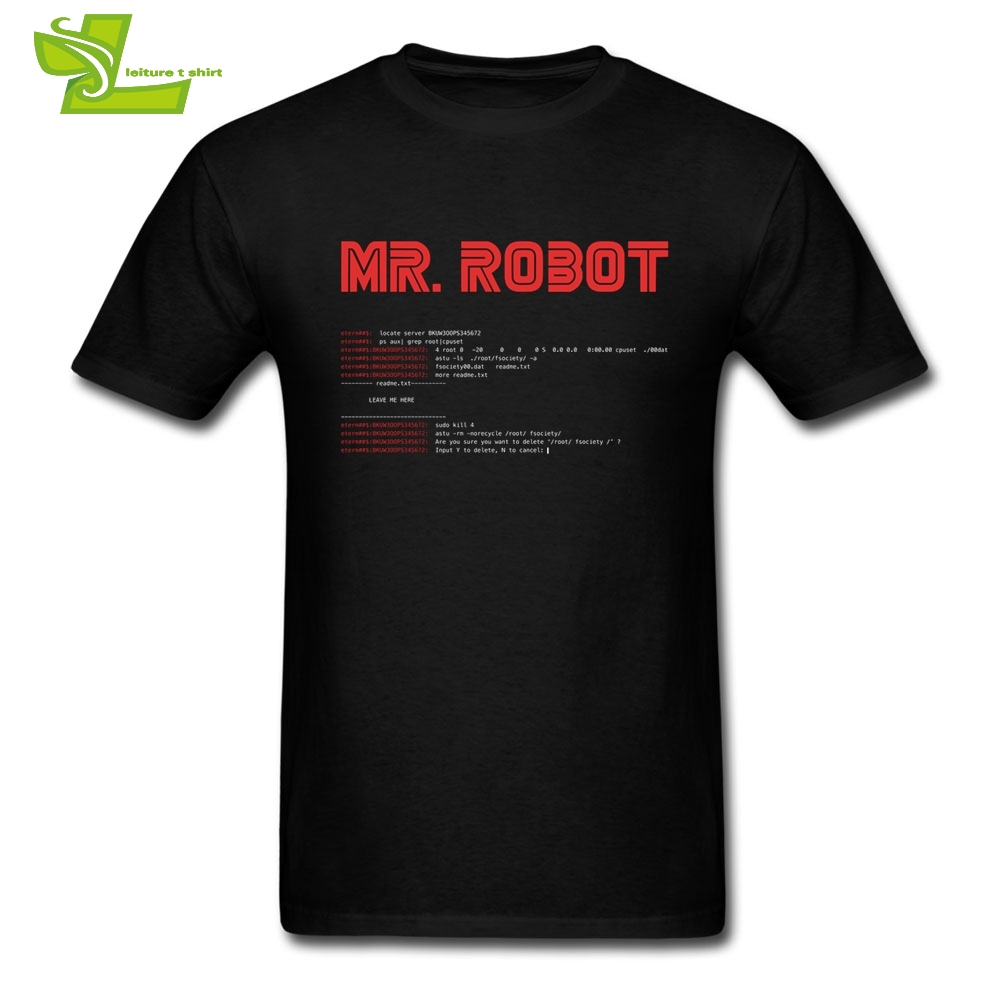 T Shirt for Men 100% Cotton Mr. Robot Programmer T-Shirt