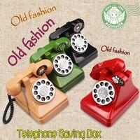 Original Retro Telephone Money Box Old Fashion Telphone Secret Safe Box Kids Gift Vintage Plastic Toys