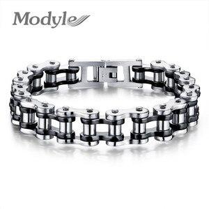 Image 3 - Modyle Biker 316L Rvs Heren Armband Mode Sport Sieraden Fiets Chain Link Armband Casual Sieraden
