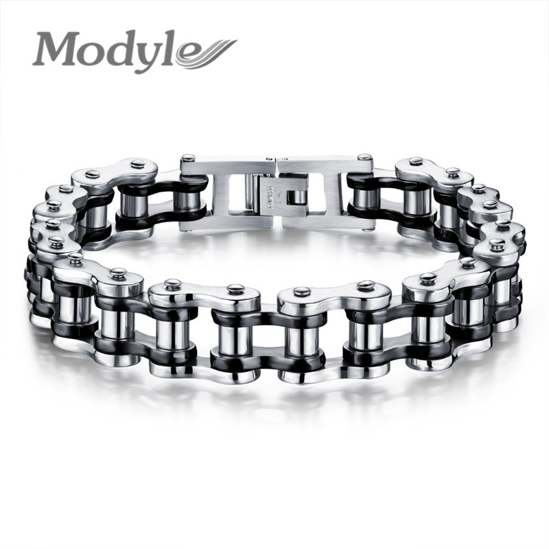 Image 3 - Modyle Biker 316L Stainless Steel Mens Bracelet Fashion Sports Jewelry Bike Bicycle Chain Link Bracelet Casual Jewellerystainless steel mens braceletchain link braceletsteel man bracelet -