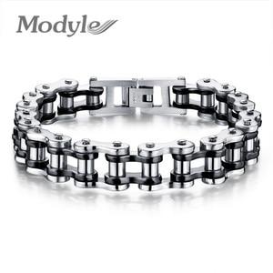 Image 3 - Modyle Biker 316L Stainless Steel Mens Bracelet Fashion Sports Jewelry Bike Bicycle Chain Link Bracelet Casual Jewellery