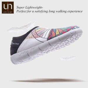 Image 4 - UIN גלגל עיצוב צבוע בד נעלי נשים טרנדי להחליק על ופרס גבירותיי נסיעות דירות אופנה Sneaker