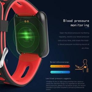 Image 2 - Smart Horloge P68 Band IP68 Waterdichte Smartwatch Dynamische Hartslag Bloeddrukmeter Voor Iphone Android Sport Gezondheid Horloge