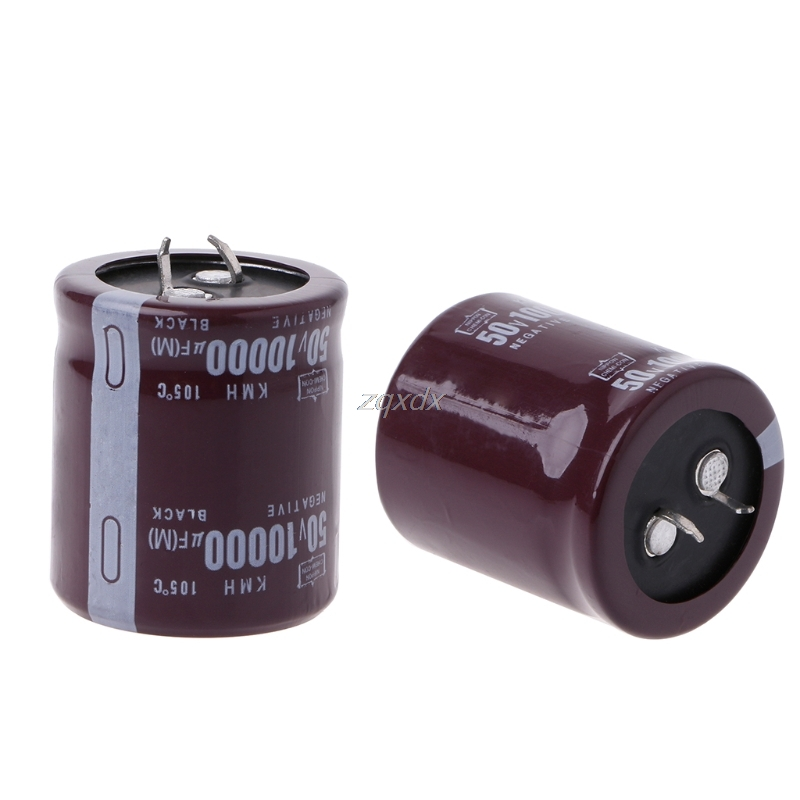 10000uF 50V 105 Degree Power Electrolytic Capacitor Snap Fit Snap In Hot JAN10 Whosale&DropShip