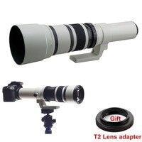 500 мм f/6,3 телефото установленные премиальные объектив + бесплатная T2 Адаптер для крепления цифровой зеркальной камеры Canon Nikon sony Olympus Pentax Каме...