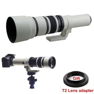 500mm f/6.3 Telephoto Fixed Prime Lens + Free T2 Mount Adapter for Canon Nikon Sony Olympus Pentax Camera DSLR
